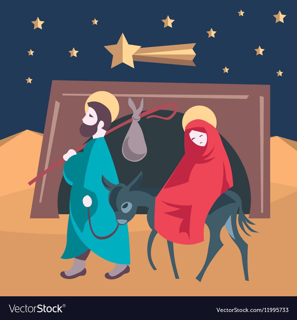 Mary and Joseph flee to Egypt Nativity Jesus