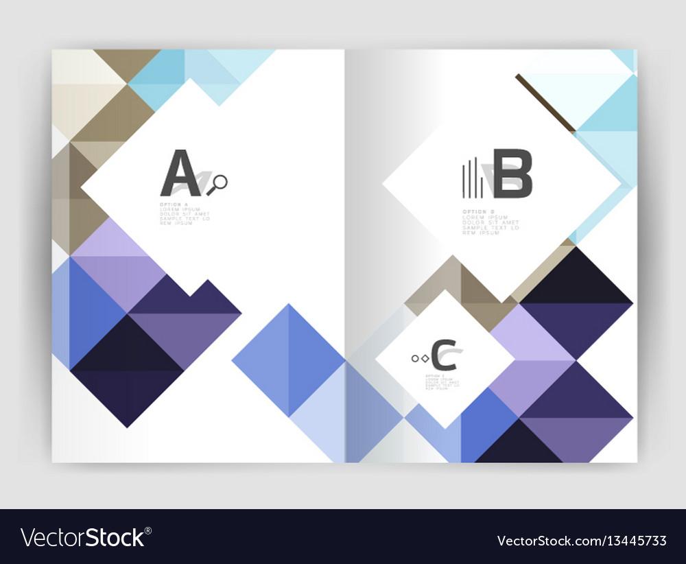 Minimalistic square brochure or leaflet business