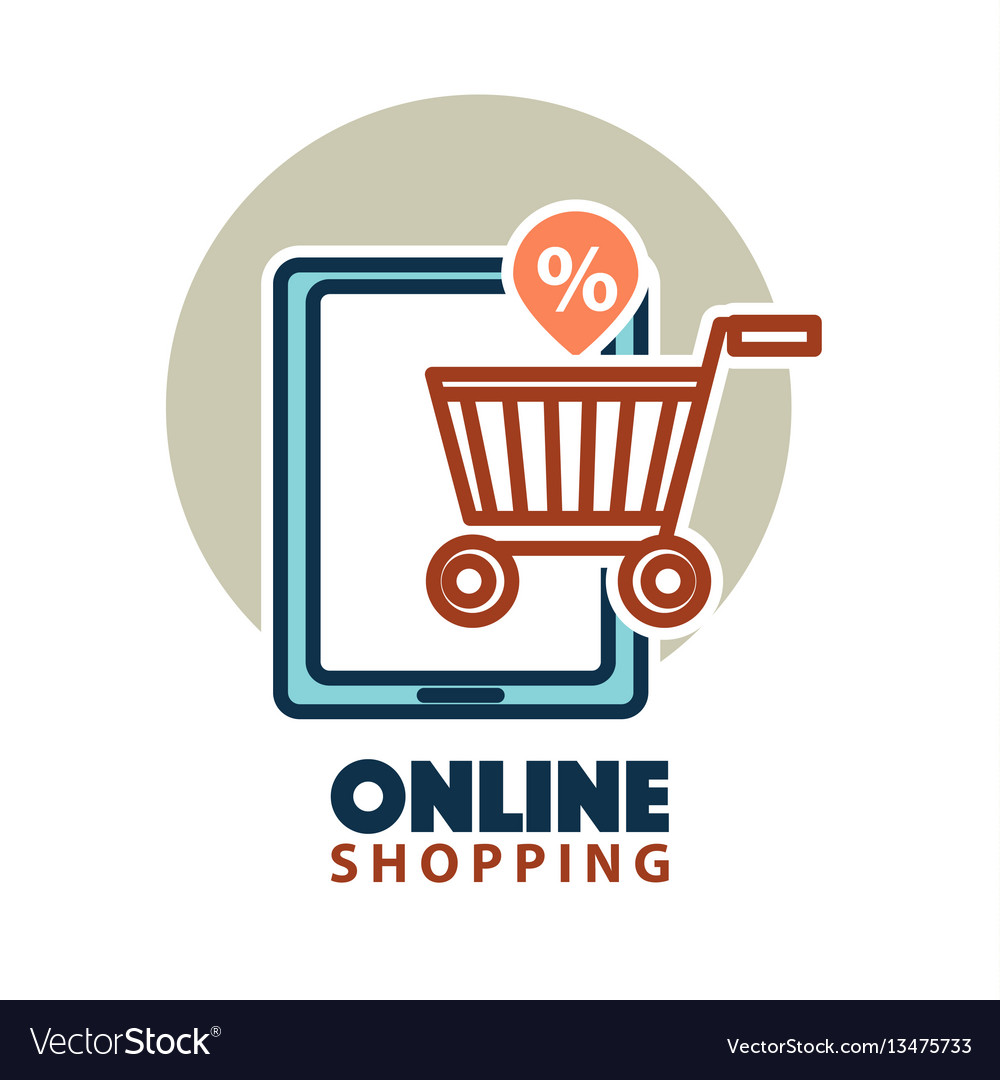 Online shopping web icon template tablet