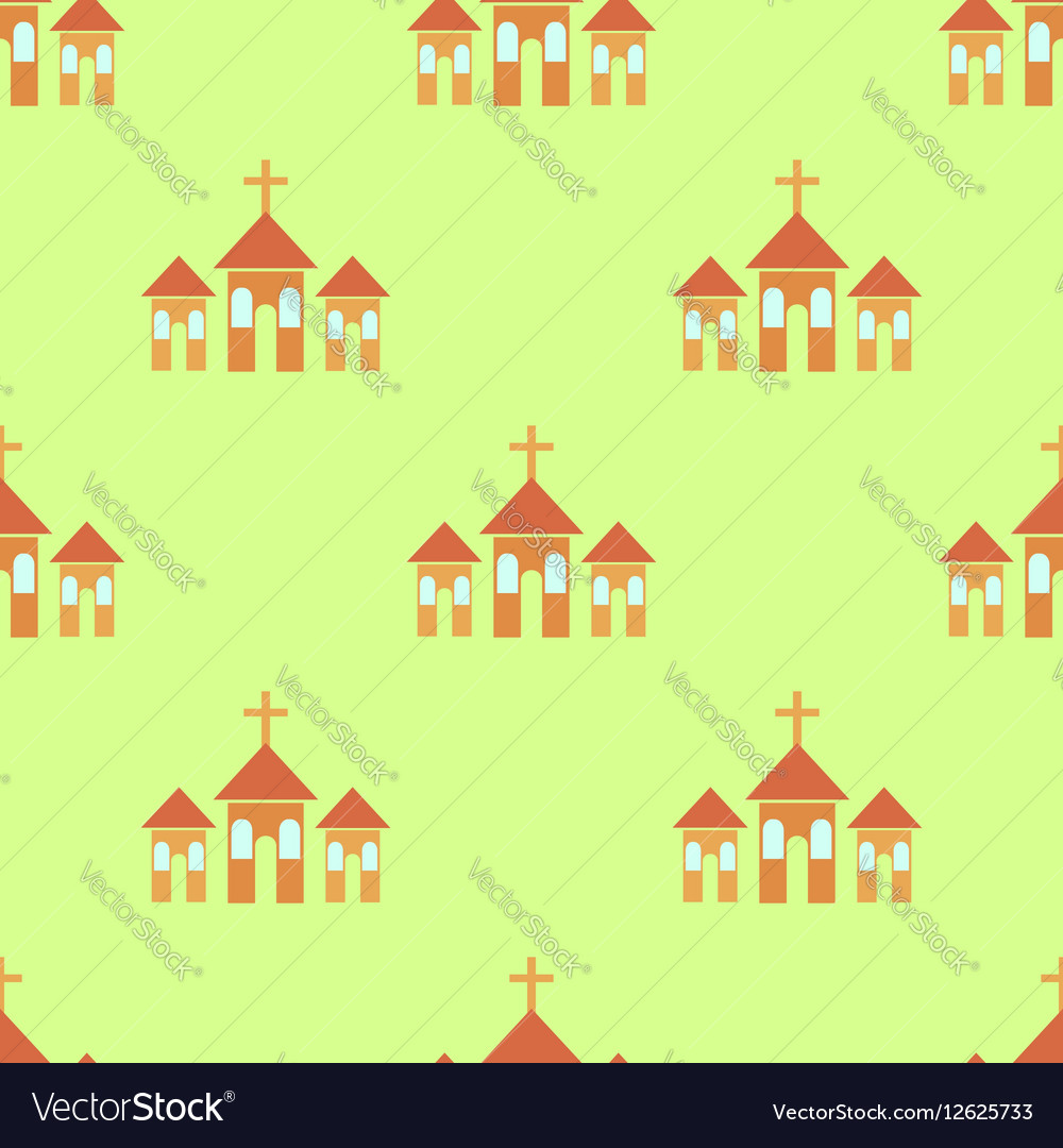 Religion Icon Seamless Pattern vector image