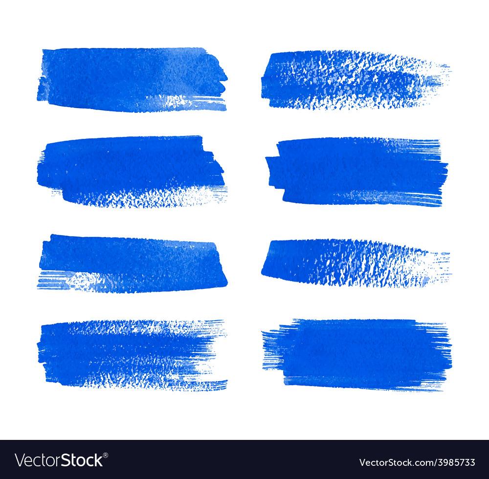 Set watercolor stripes