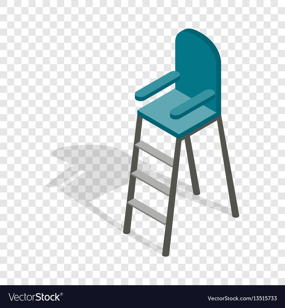 Tennis referee chair isometric icon