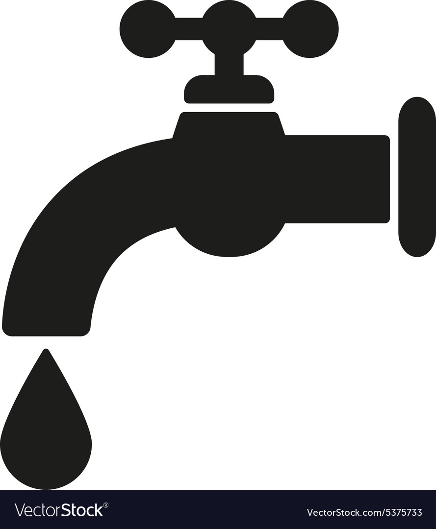 The tap water icon Water symbol Flat Royalty Free Vector