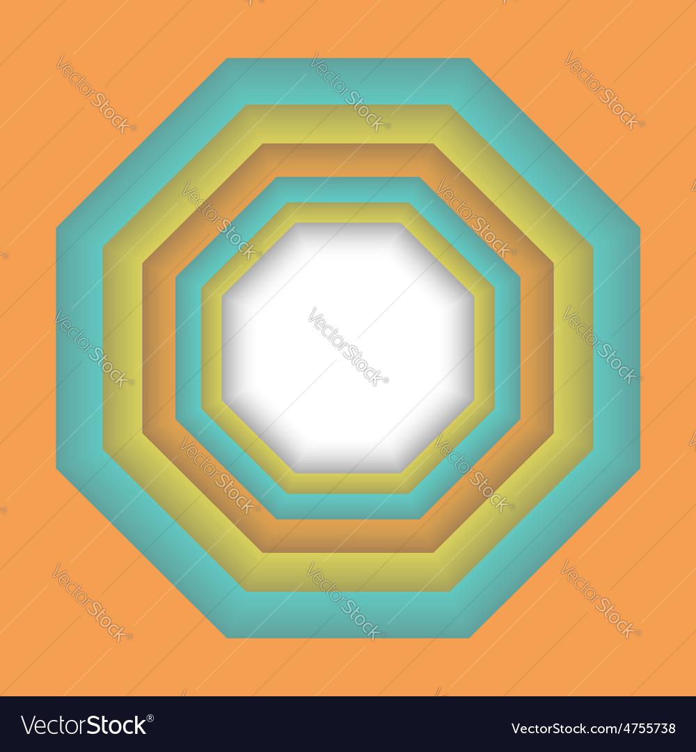 Abstract colorful 3d frame design geometric