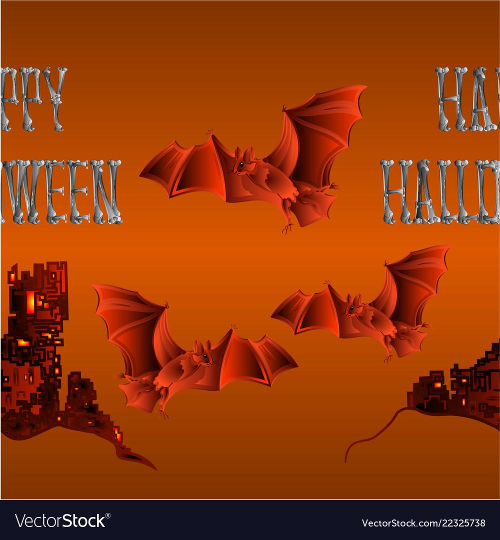 Border seamless background happy halloween