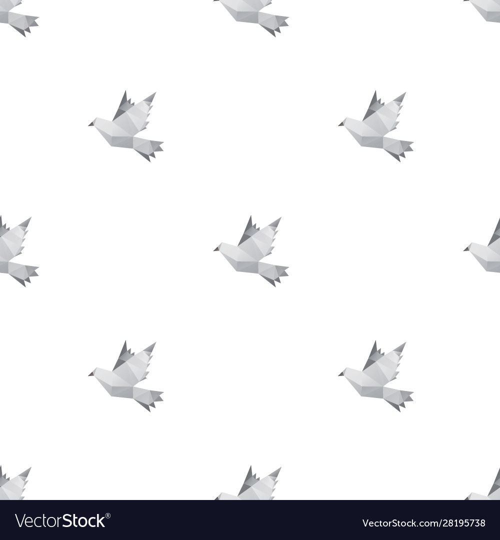 Dove triangle seamless pattern backgrounds