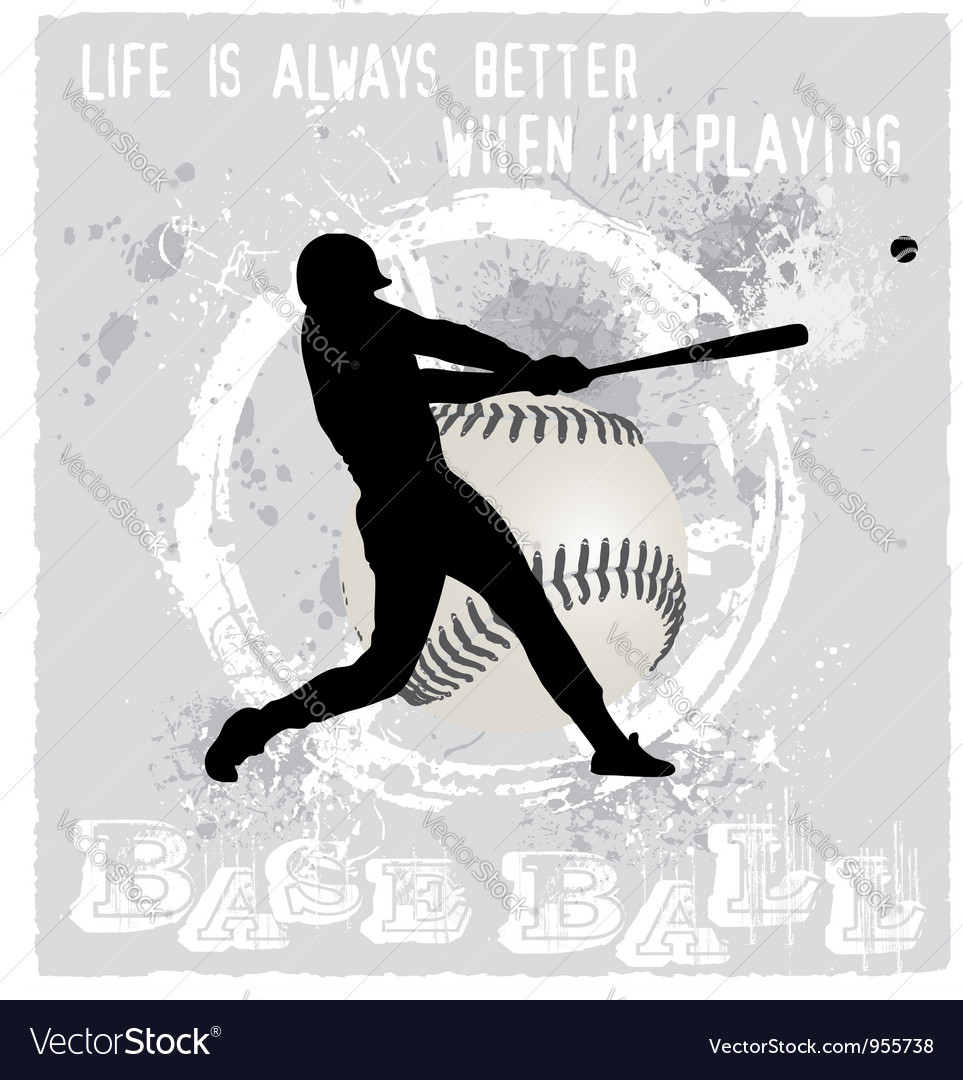 Playing baseball vector image