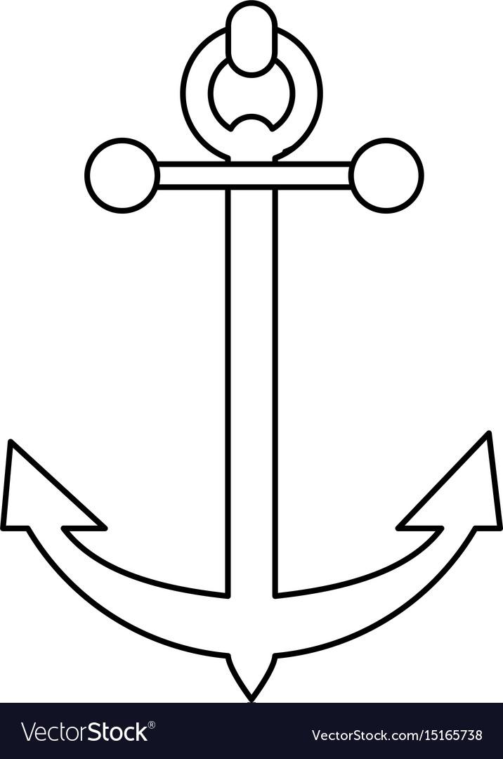 Sailing anchor icon image