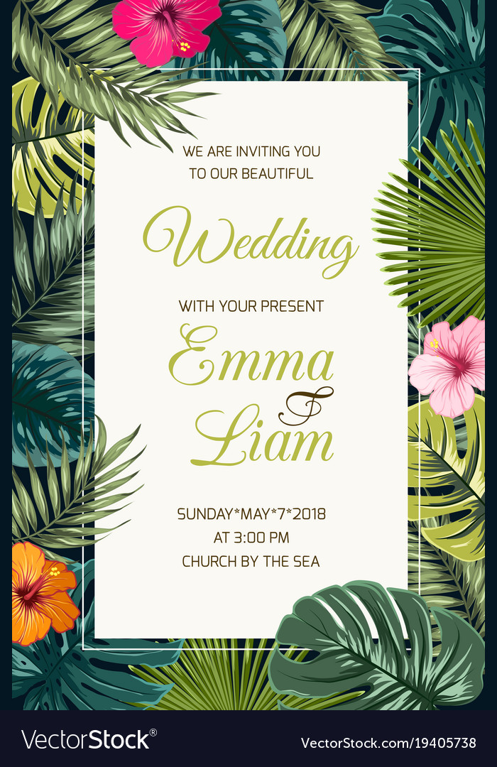 Wedding event invitation card template Royalty Free Vector