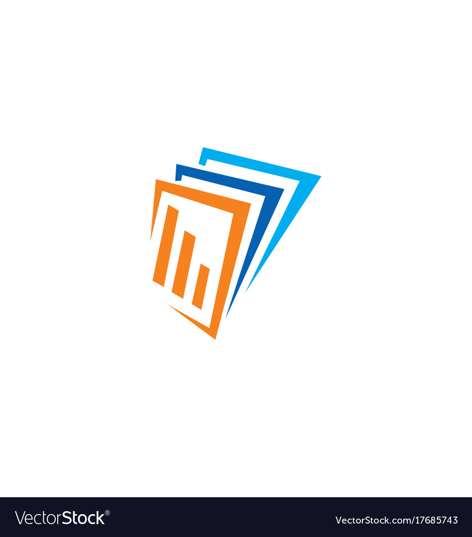 Business finance data paper logo