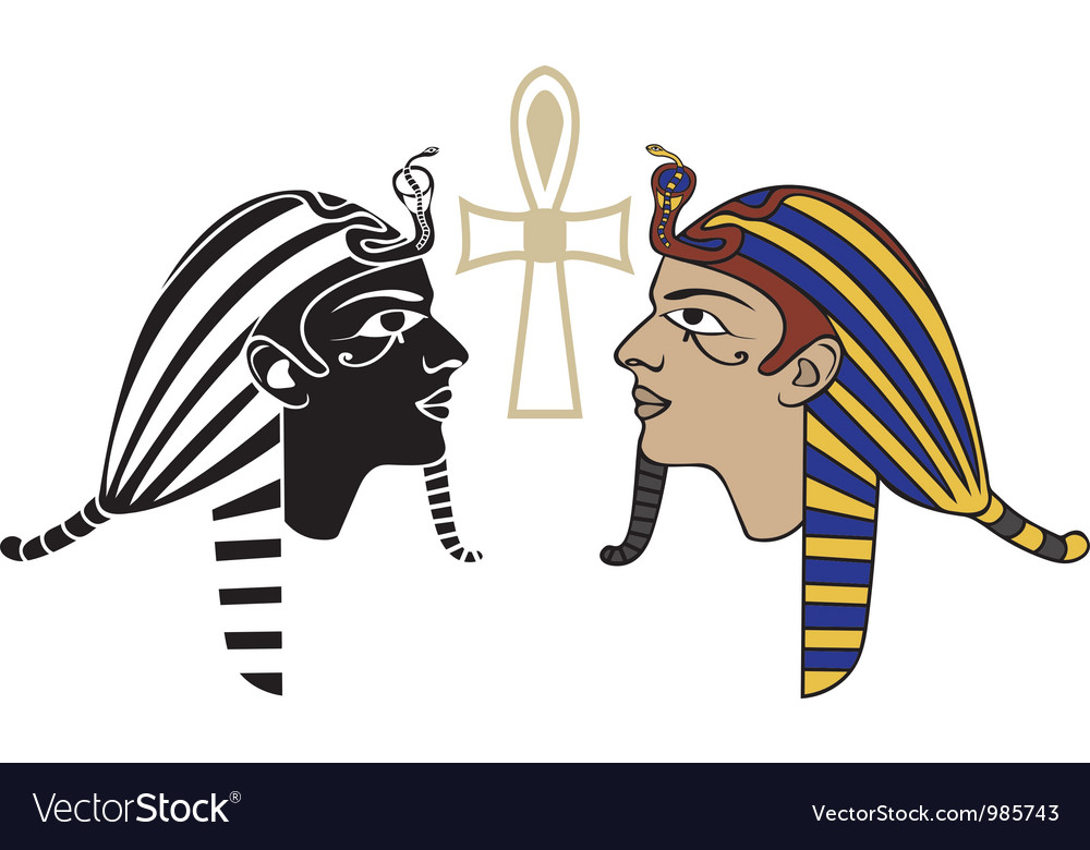 Egyptian pharaon head vector image