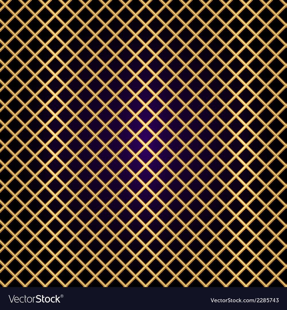 Gold lattice on black background vector image