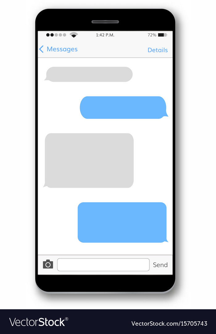 how do you forward a text message on iphone message text box mobile phone screen royalty free vector 1062