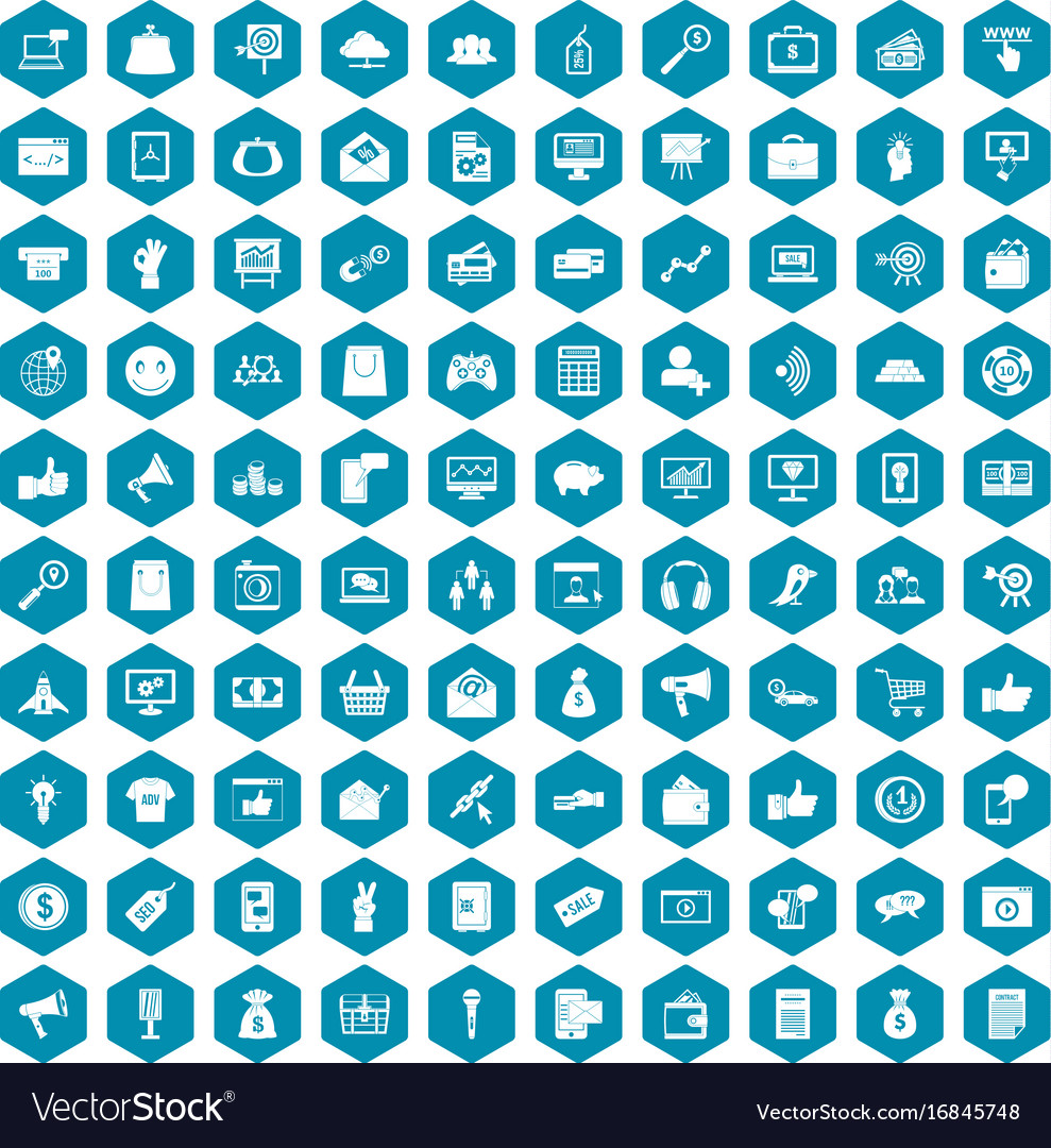 100 digital marketing icons sapphirine violet