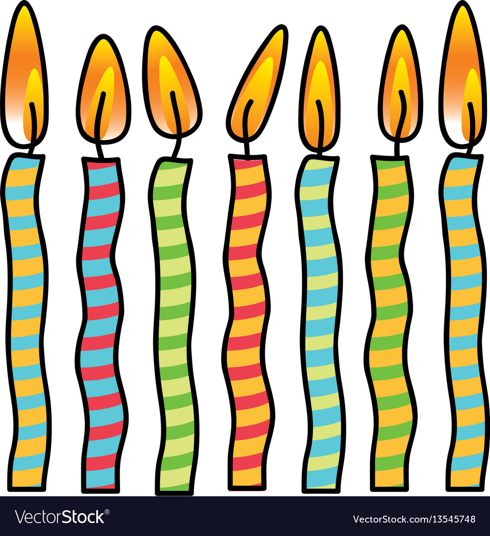 Color canddles party icon