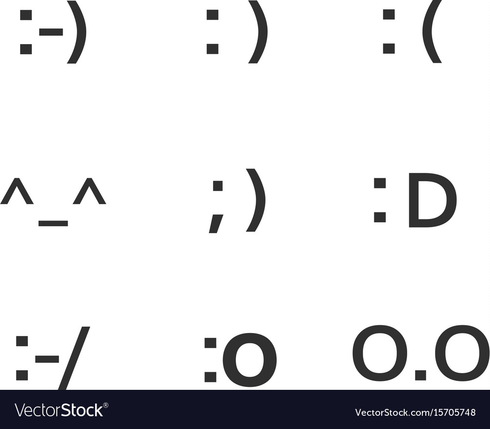 Emoji Faces Keyboard Symbols Smile Symbols Vector Image