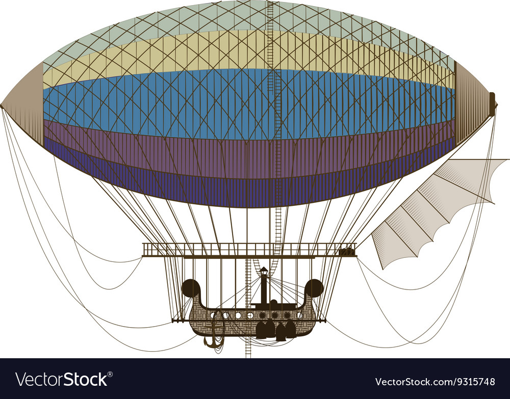 Fantastic retro dirigible