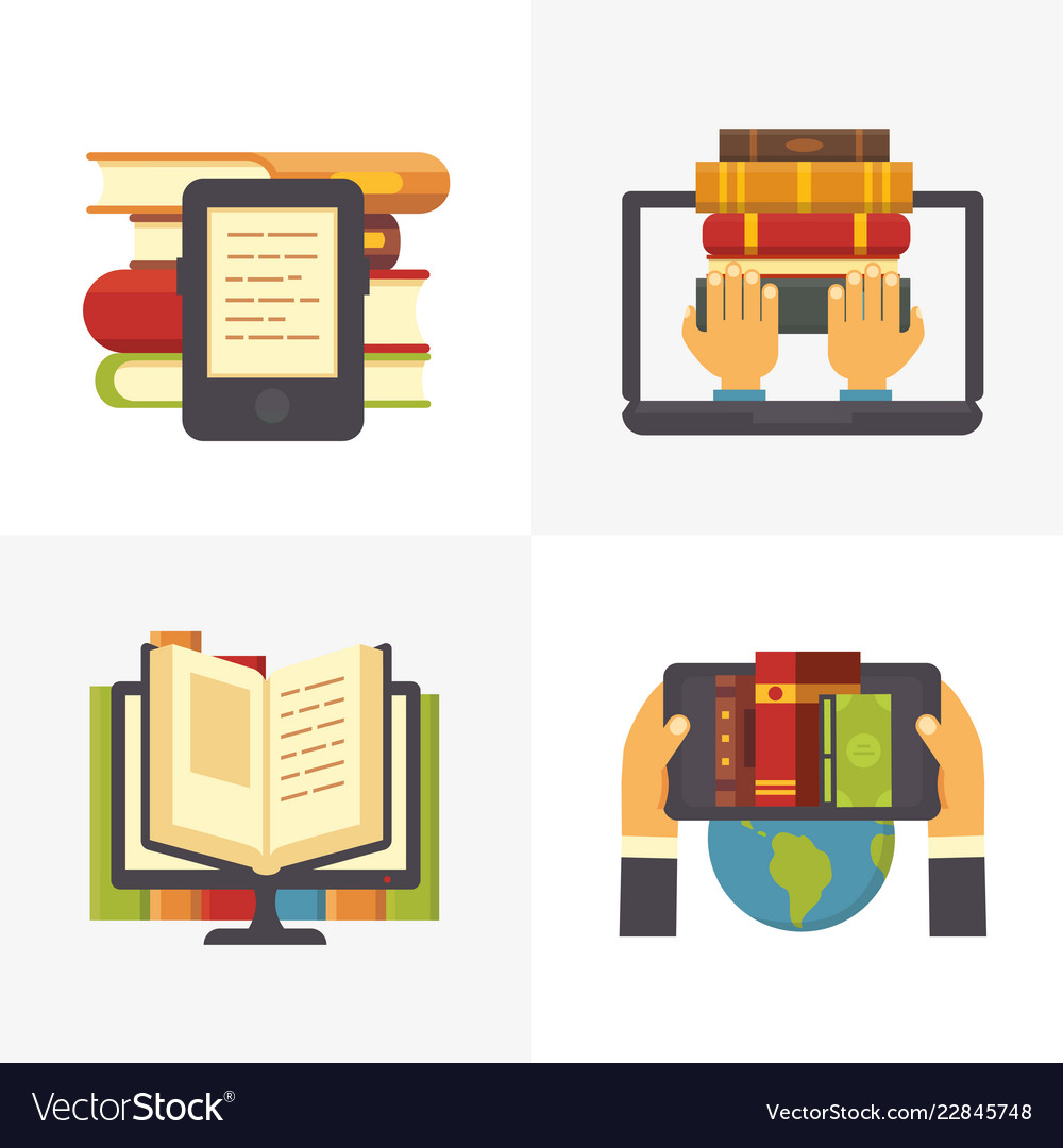 Flat online library school library book access at