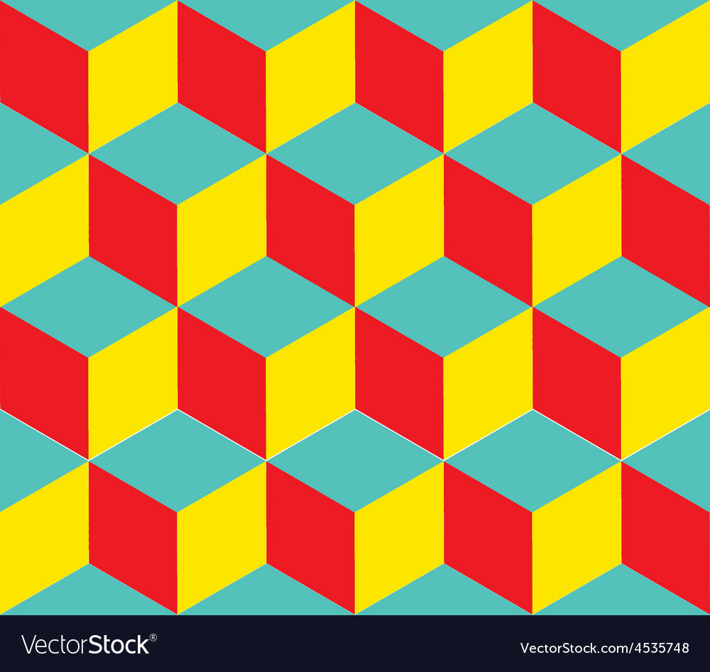 Geometric background Cube shapes Optical