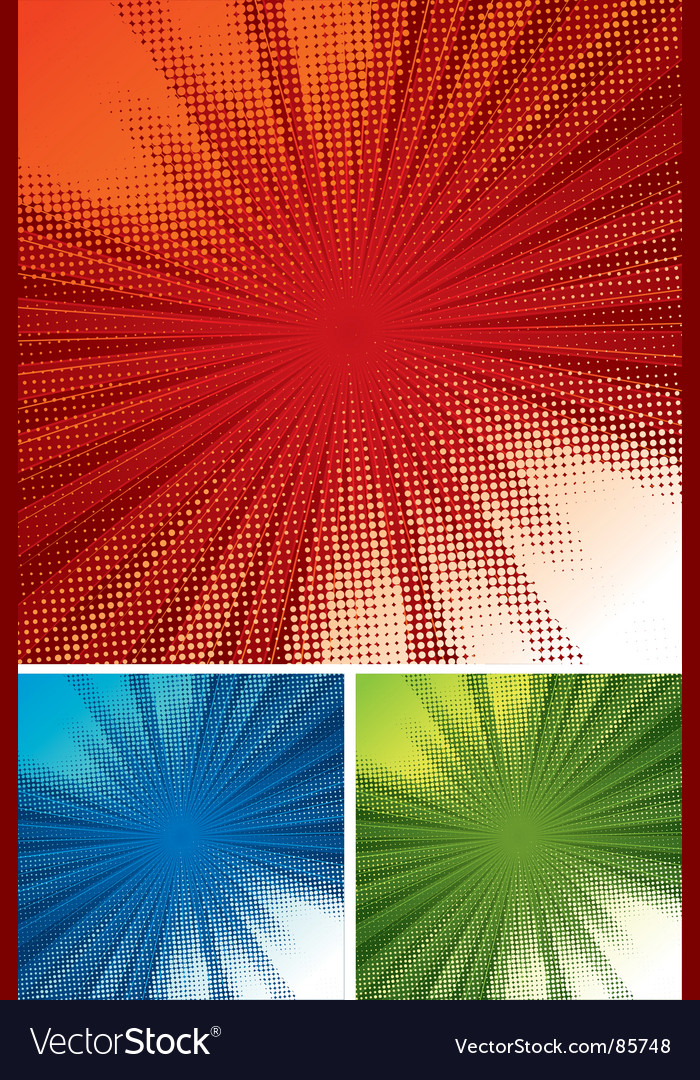 Halftone rays background