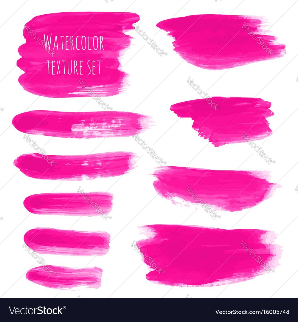 Pink rose magenta watercolor brush stroke
