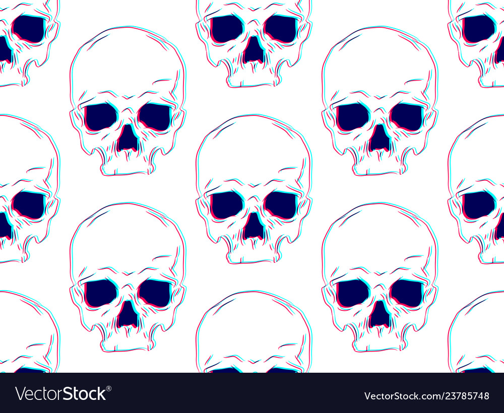 Seamless pattern with of human