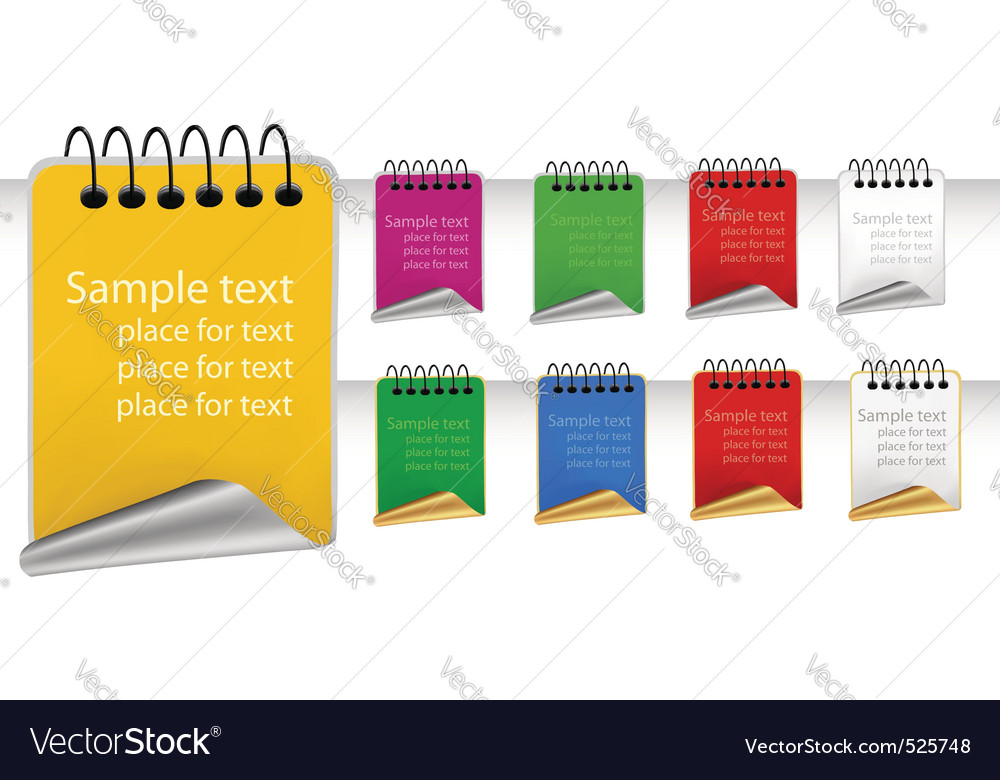 Set with color tags