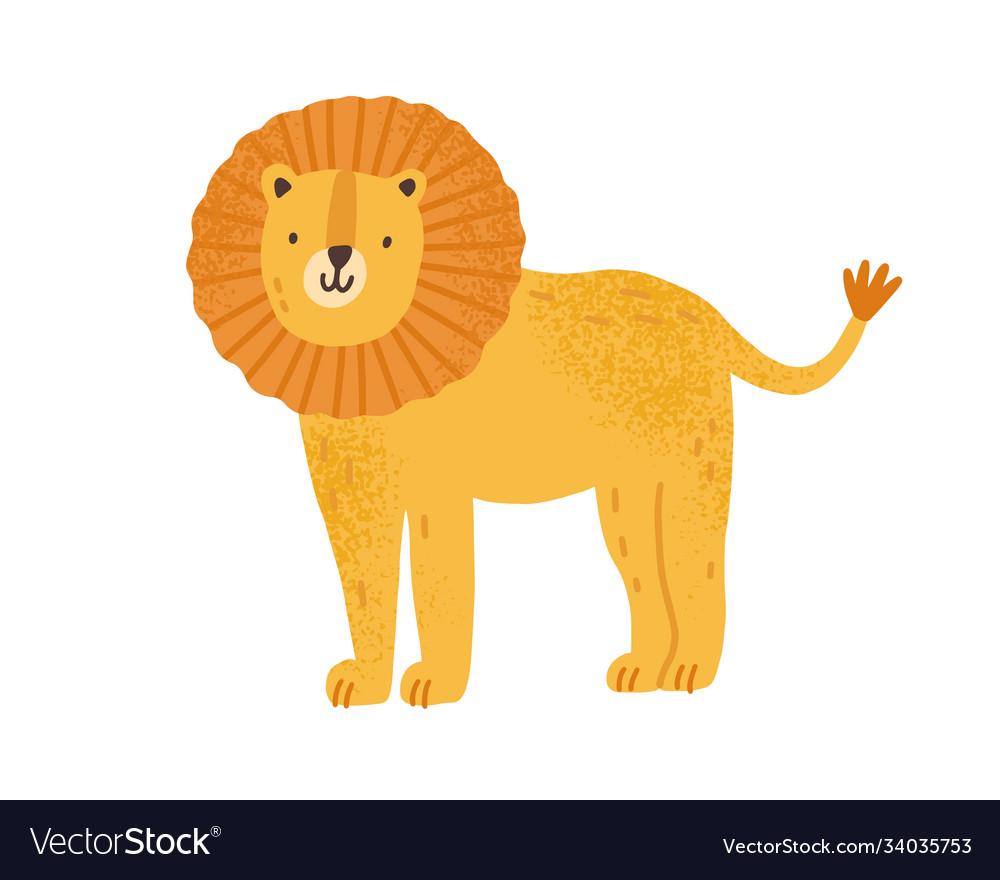 Childish cute lion in simple scandinavian