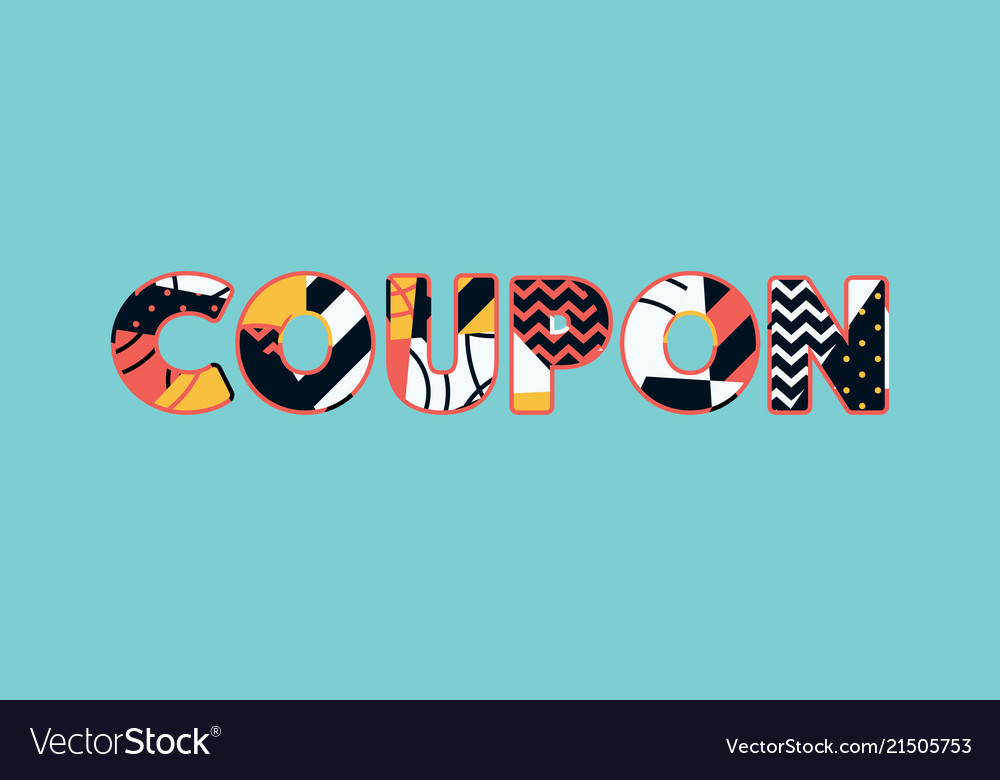 Coupon Concept Word Art Royalty Free Vector Image