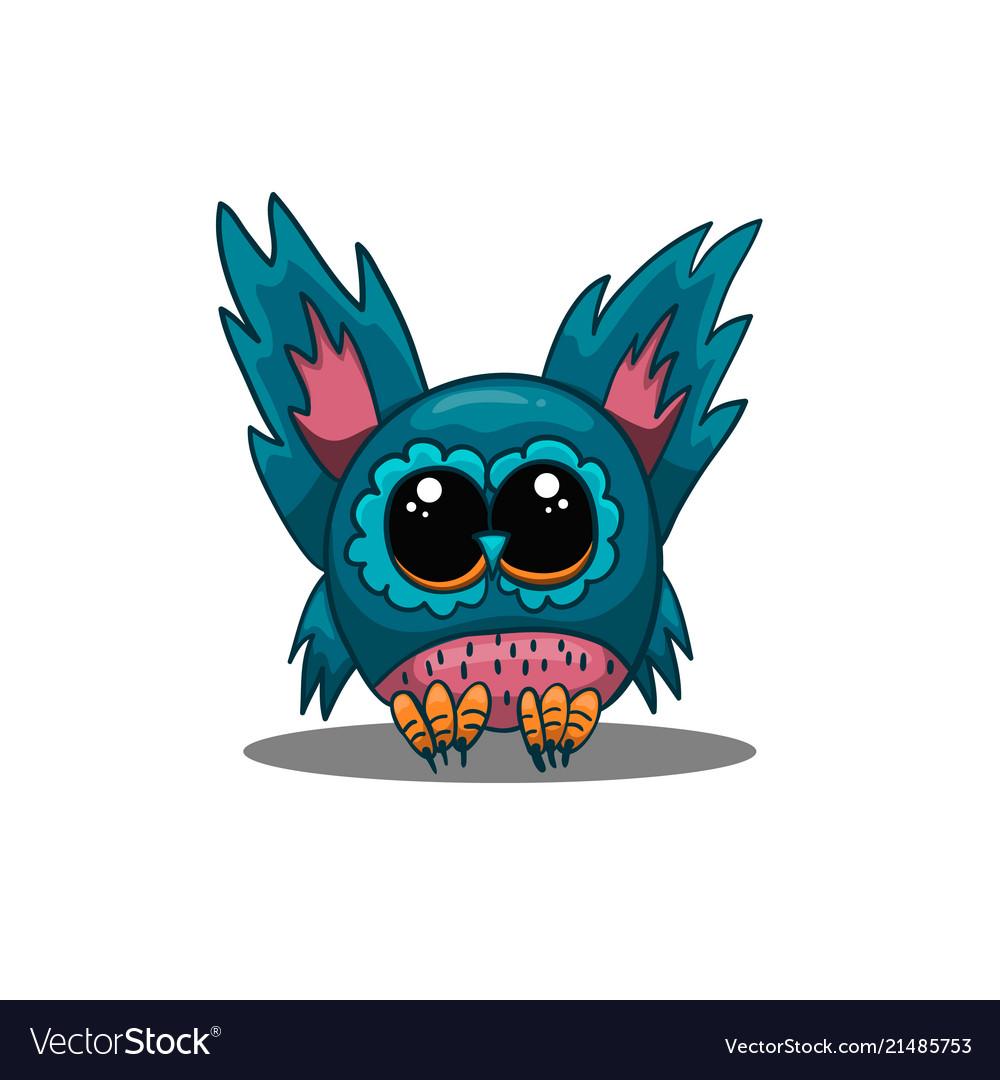 Cute owl in cartoon style