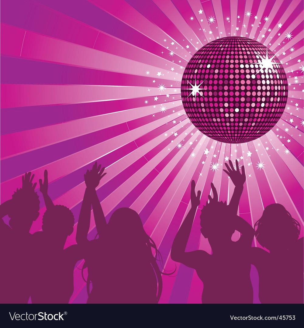 Disco ball party vector image