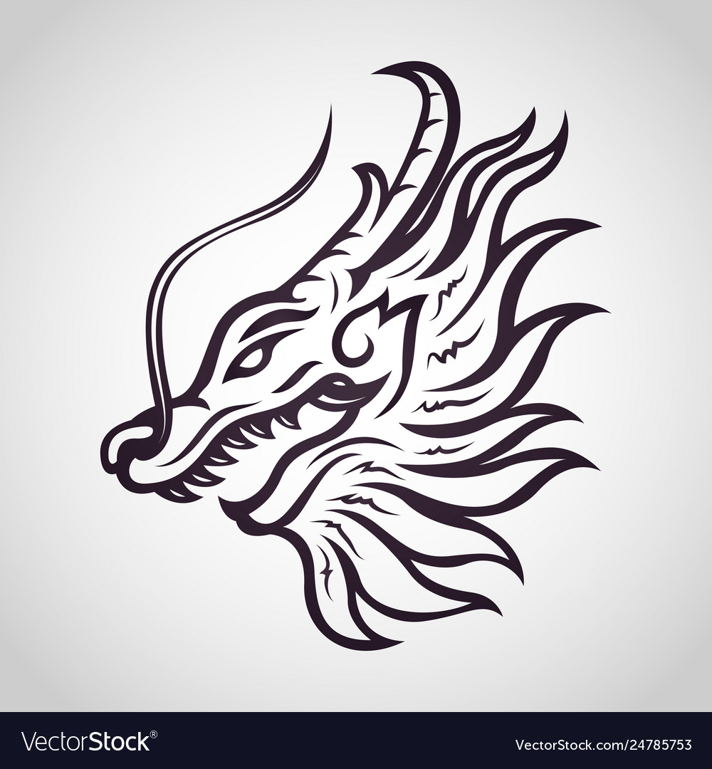 Dragon logo icon design
