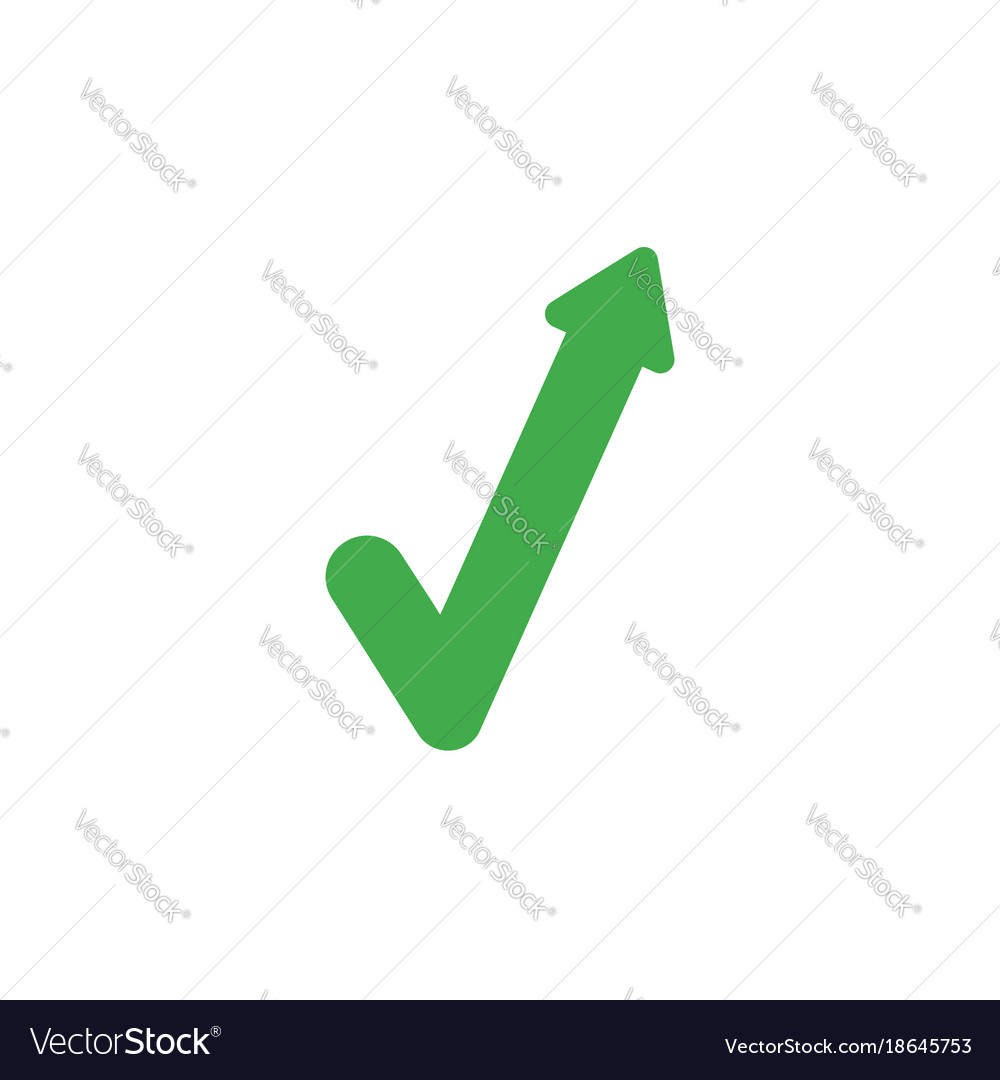Flat Design Style Concept Of Check Mark With Vector Image