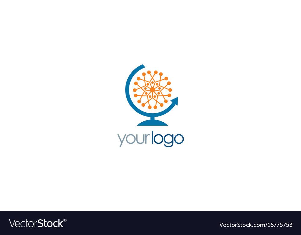 Globe molecul connect logo