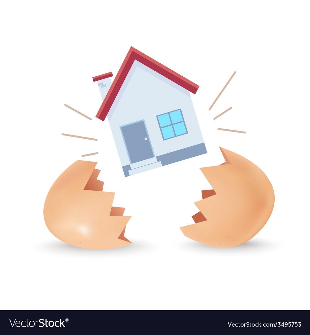 House Born vector image
