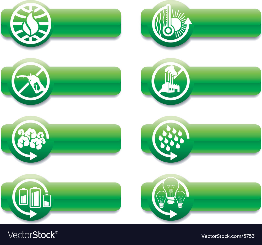 Keep earth green banners vector image