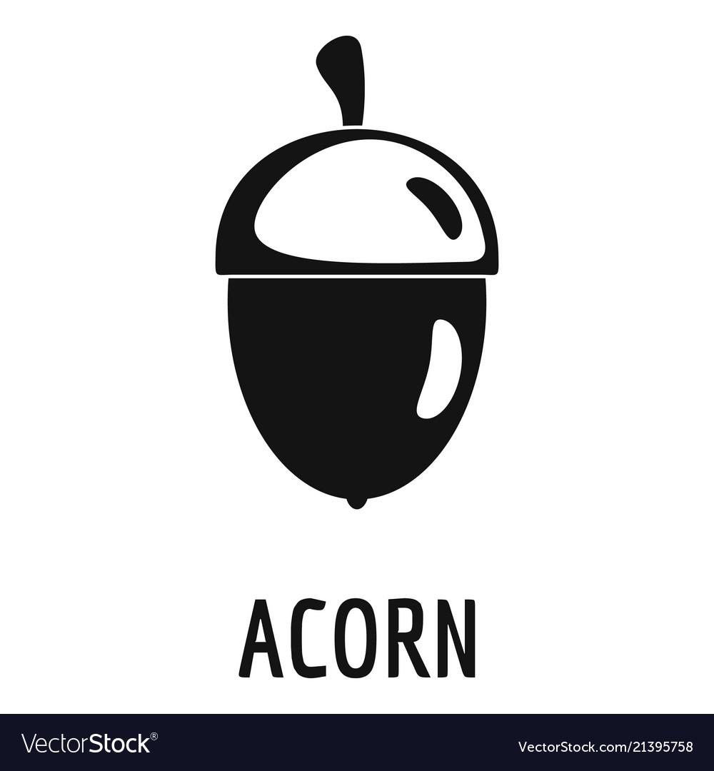 Acorn icon simple style