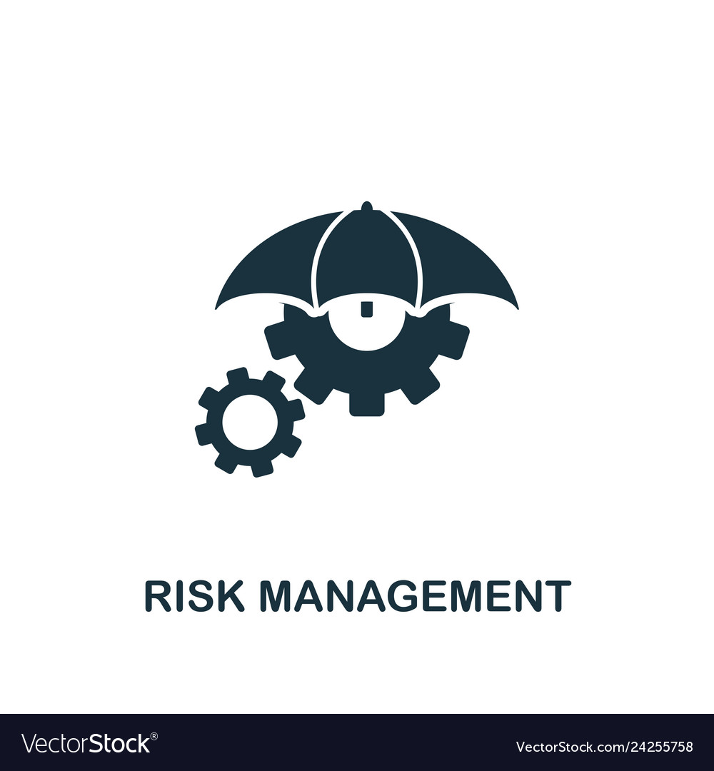 0bbfcdd9afe34 Risk management icon creative element design from Vector Image