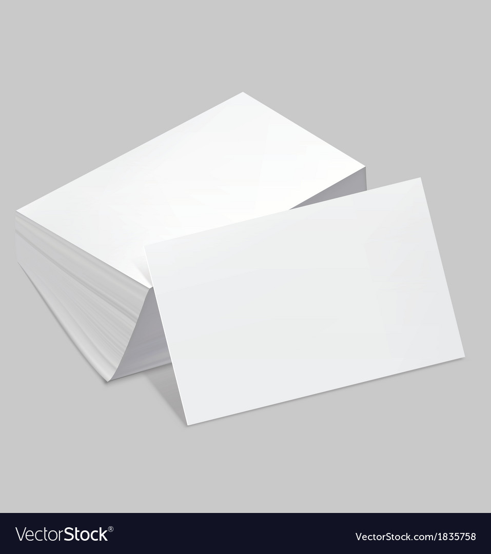 Stack blank business card