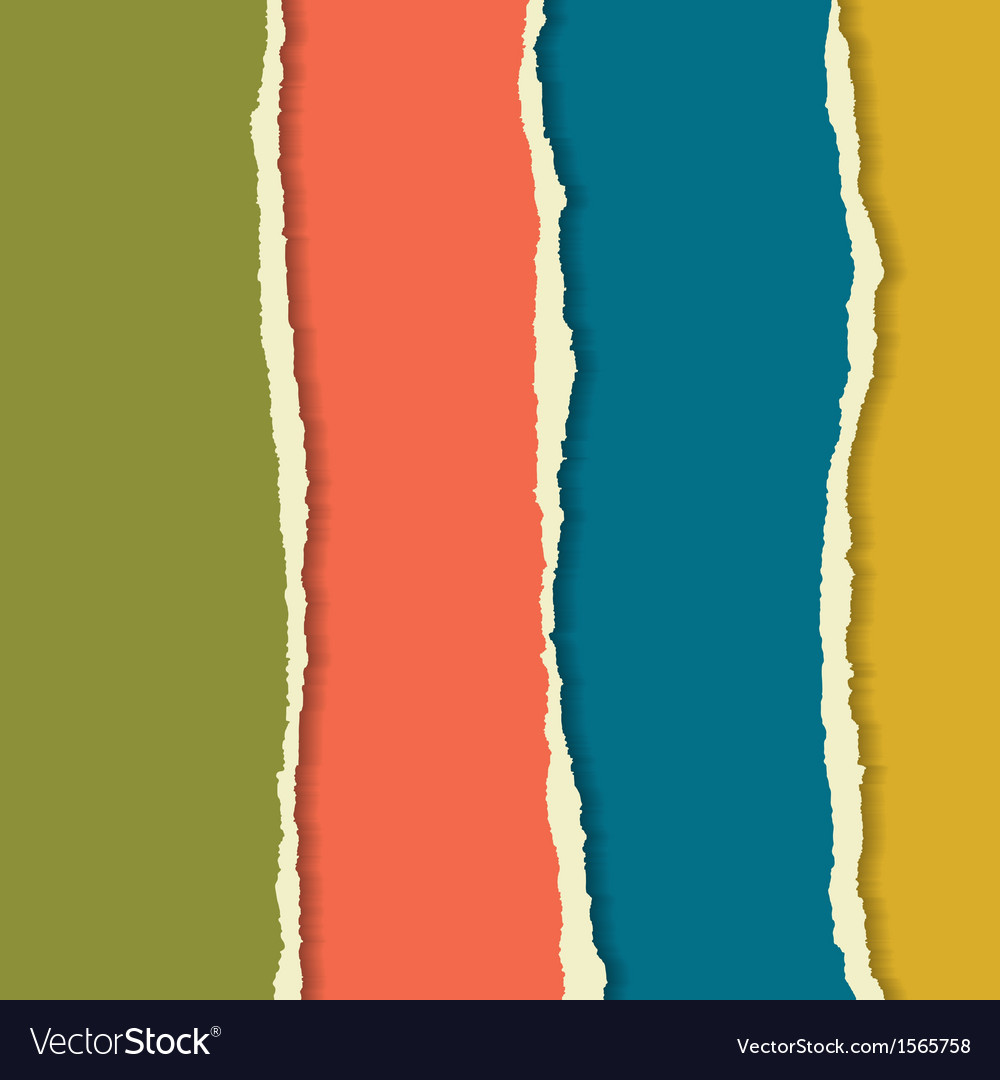 Torn paper set Background for your business vector image