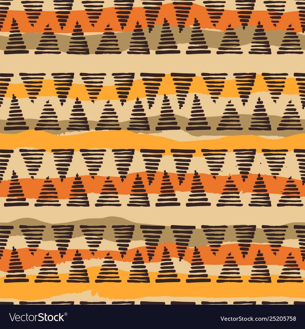 Tribal ethnic seamless pattern with geometric