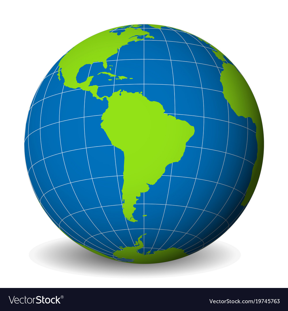 Earth globe with green world map and blue seas and earth globe with green world map and blue seas and vector image gumiabroncs Images