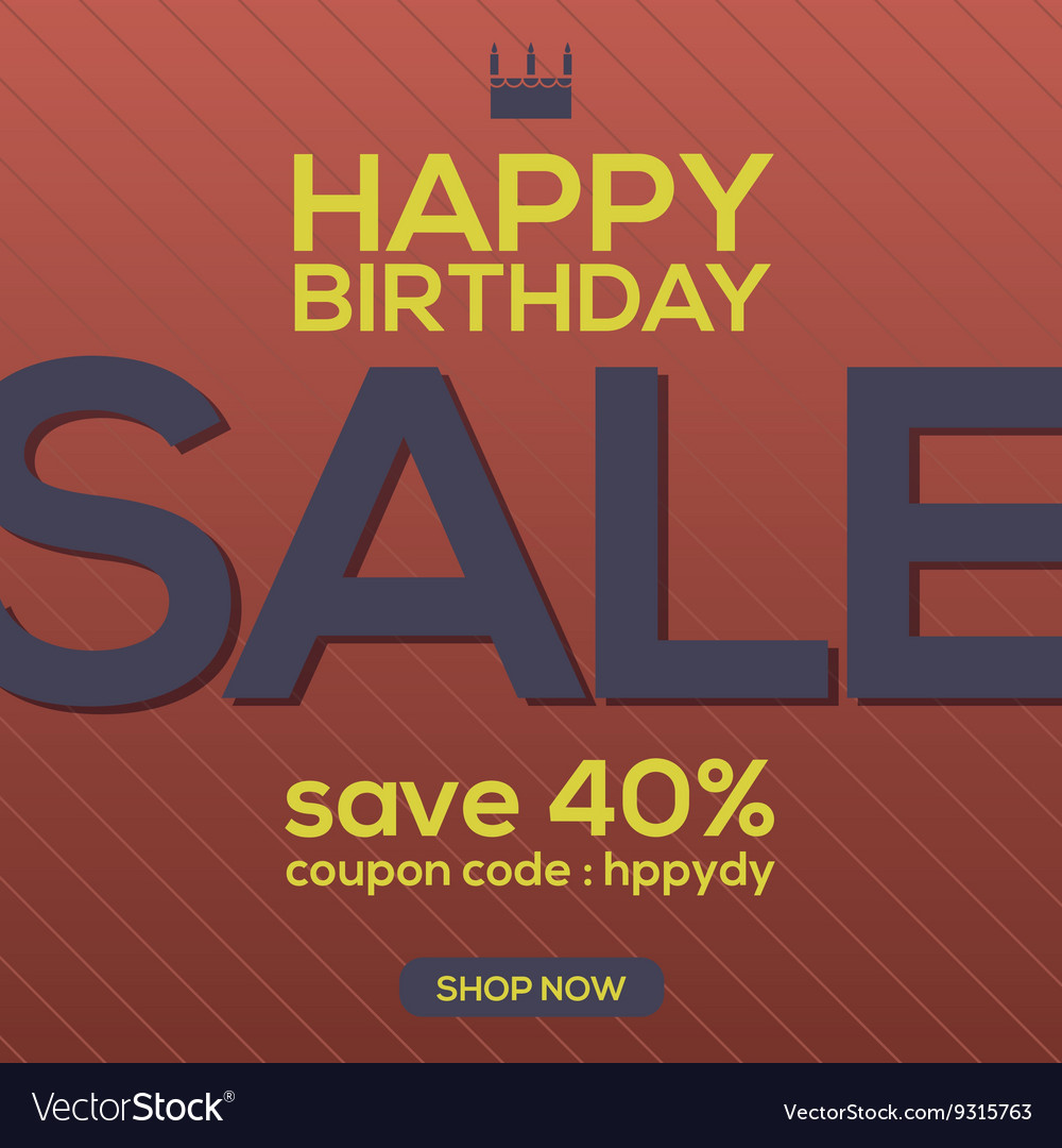 Happy Birthday Sale Banner
