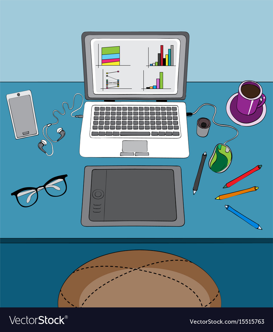 Home office and remote work vector image