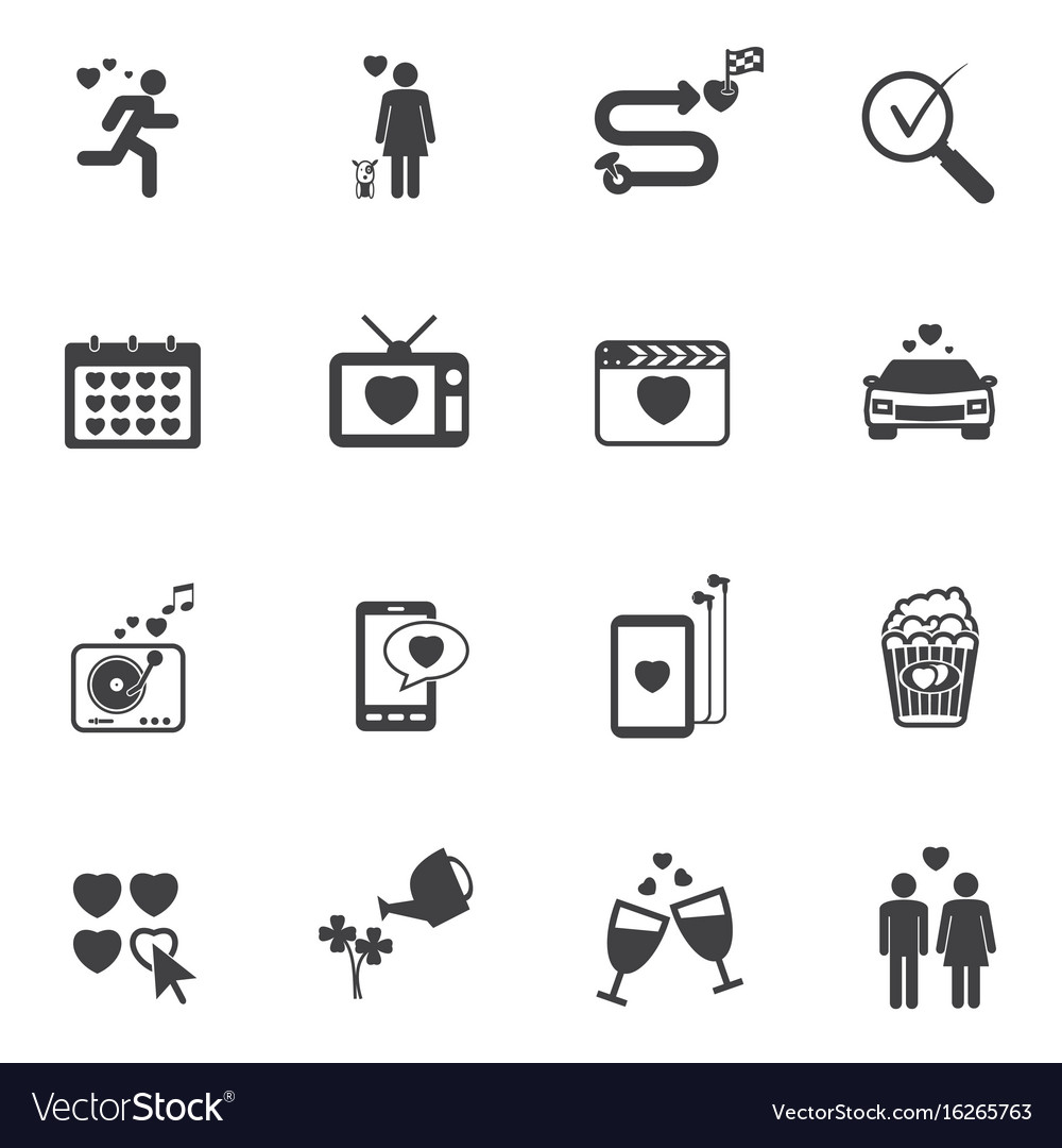 Love icons related family story vector image