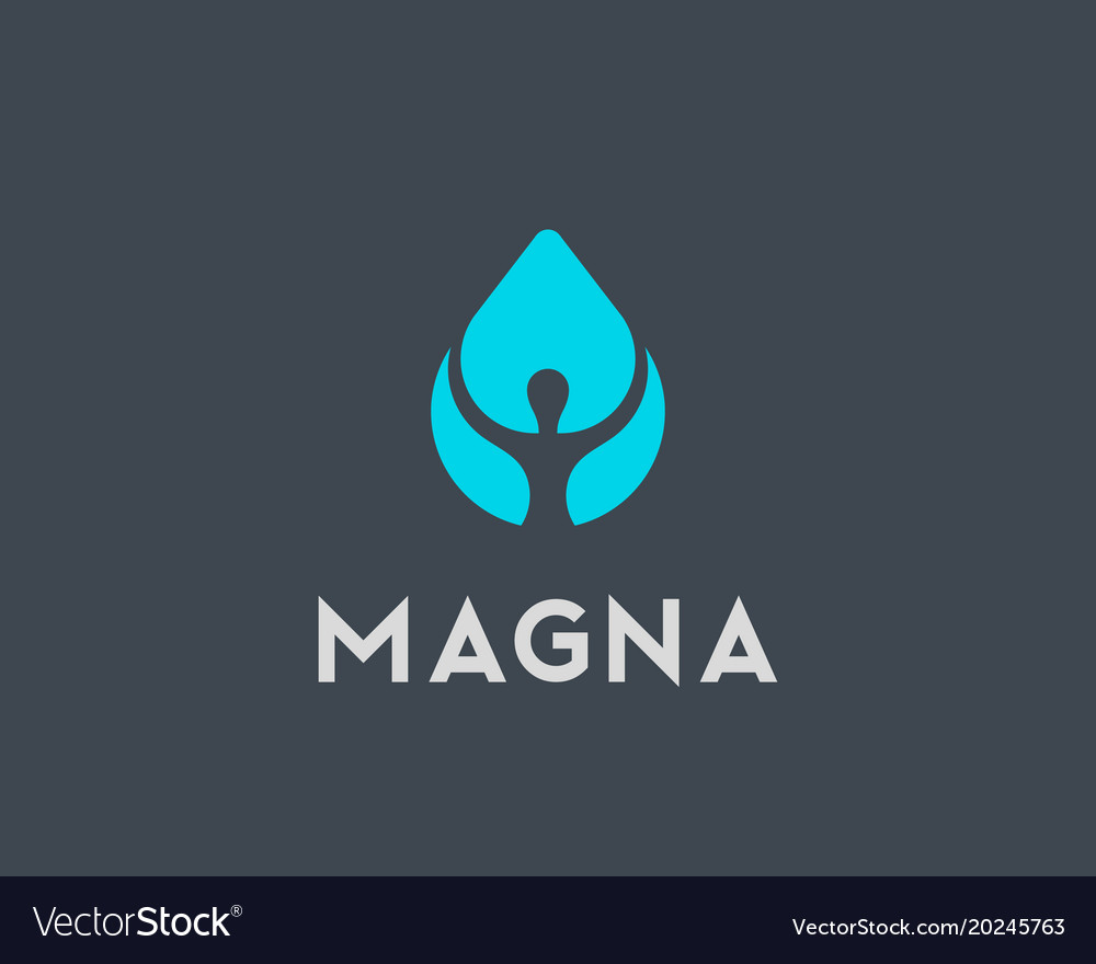 Person water logotype human drop logo vector image