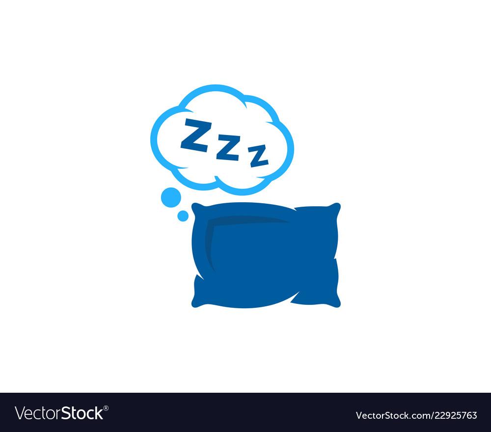 Pillow sleep logo icon design