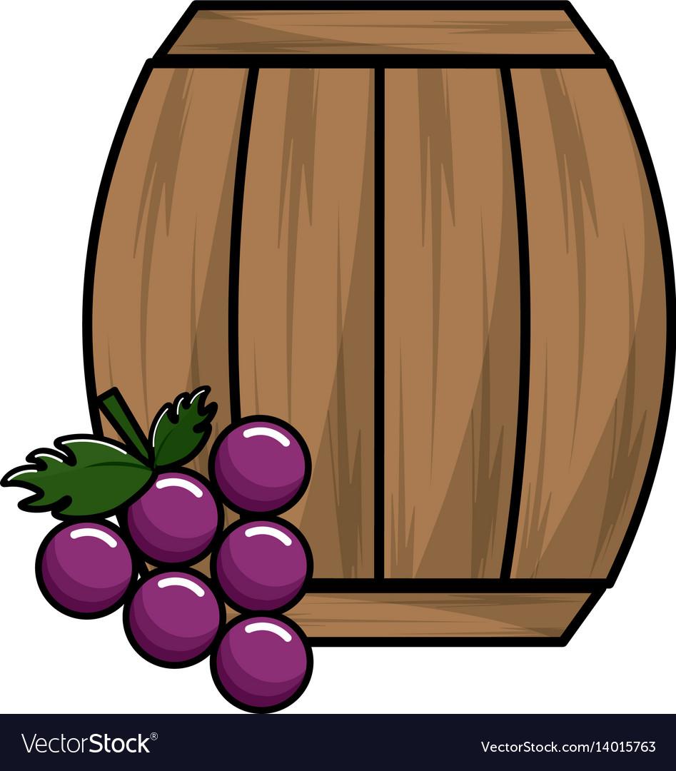 Wool barrel wine with grape fruit