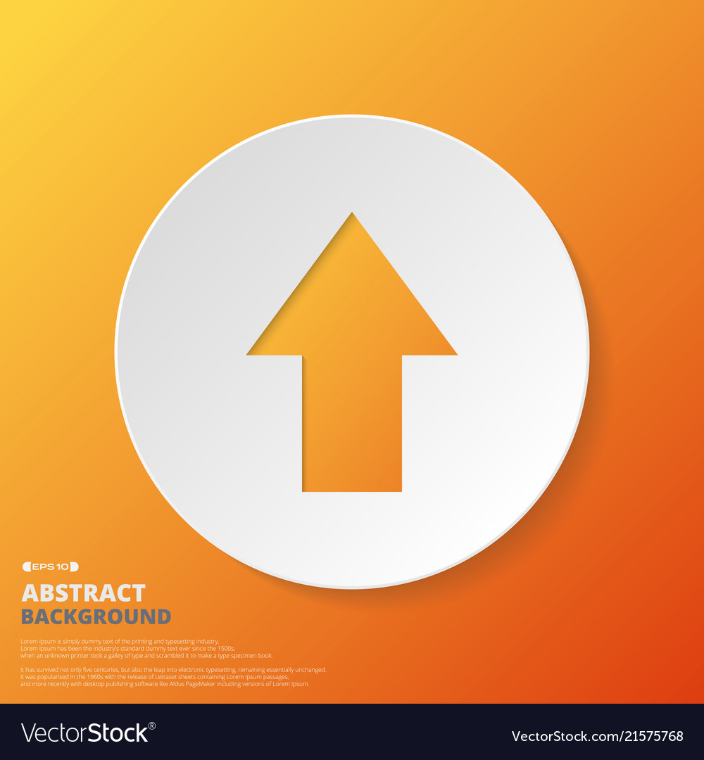 Abstract of arrow icon in orange gradient