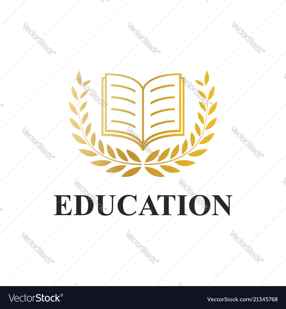 Book icon logotype education concept